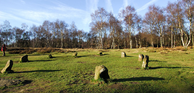 Nine Ladies Stone - geograph creative commons licensed photo by Andrew Hugget